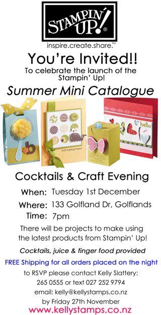 Summer Mini Launch Invite
