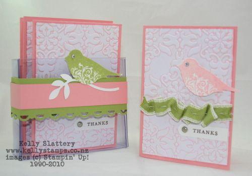 Stampin Up! Blushing Bride Thank You Cardss