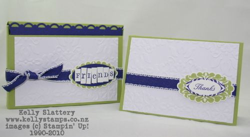 Stampin Up! Pear Pizzazz Gift Cards