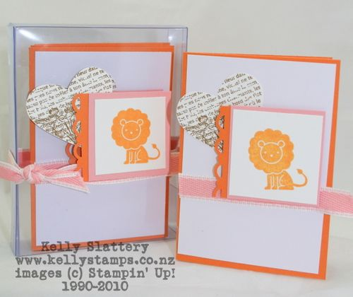 Stampin Up Peach Parfait Gift Cards